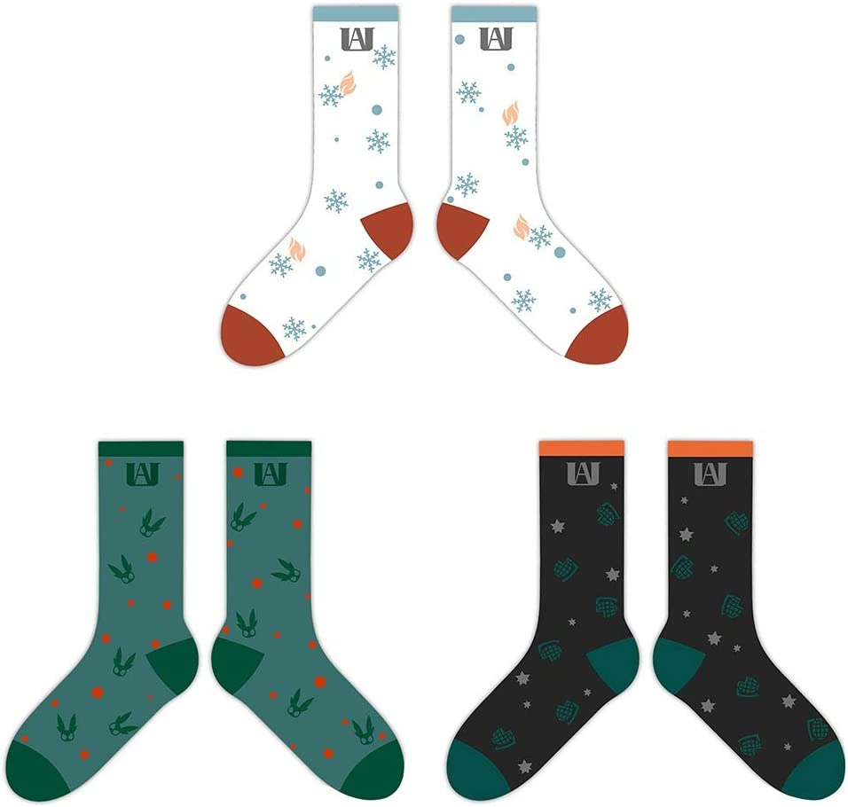 H03 Glasses Cloth Unisex Cotton Socks Cool Colorful Fancy Novelty Socks Apehuyuan My Hero Academia Anime Socks