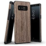 Galaxy Note 8 Case, B BELK [Air To Beat] Non Slip [Slim Matte] Wood Grip Rubber Bumper [Ultra Light] Soft TPU Back Cover, Premium Smooth Wooden Shell for Samsung Galaxy Note 8-6.3 inch, Walnut