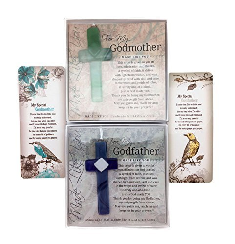 Grandparents Gifts Handmade Cross And Book Cards and Book Card Gift Set for Grandparents Godmother Gifts Baptized in Christ Great Gifts for Godparents Handmade in USA