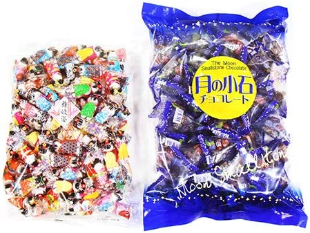 溶けにくいチョコセット A(月の小石チョコレート & 舞妓姿チョコレートボール) おかしのマーチ