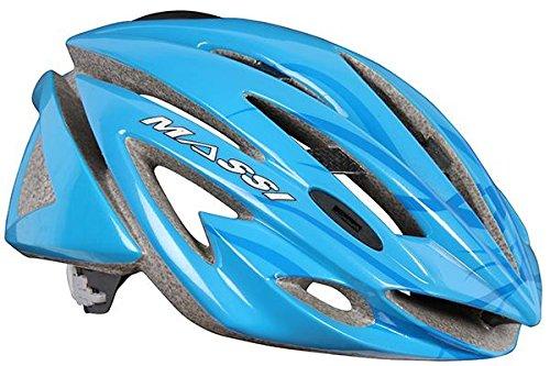 0 Massi Carbon - Fahrradhelm Unisex, Farbe blau, Größe M