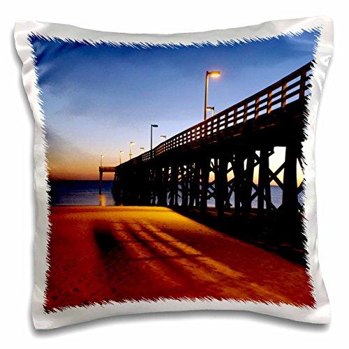 3dRose Public Pier, Gulf of Mexico, Panama City, Florida - Us10 Fvi0111 - Franklin Viola - pillow Case, 16 by 16-Inch - Panama City Pier