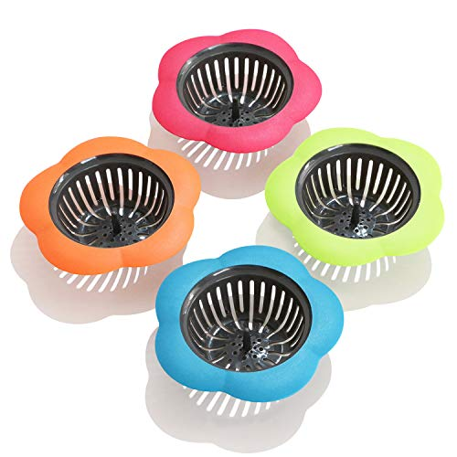 Betwoo Plastic Sink Strainer Kitchen Easy Clean Sink Drain Filter Basket,Set of 4