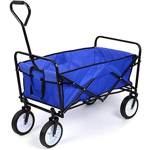HOMFA Garden Cart Trolley Foldable Pull Wagon Folding Trolley Camping...
