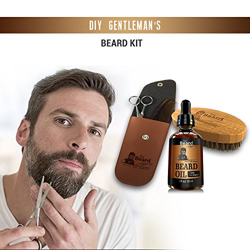 complete beard grooming kit w pouch stainless steel scissors 5 beardmustache comb 100 natural. Black Bedroom Furniture Sets. Home Design Ideas