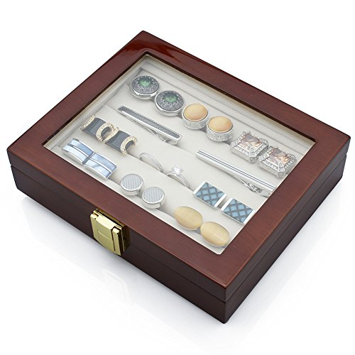 sc 1 st  Jewelcheap & HAWSON Wooden Cufflinks Display Case Luxuey Tie Clip Storage Box ...