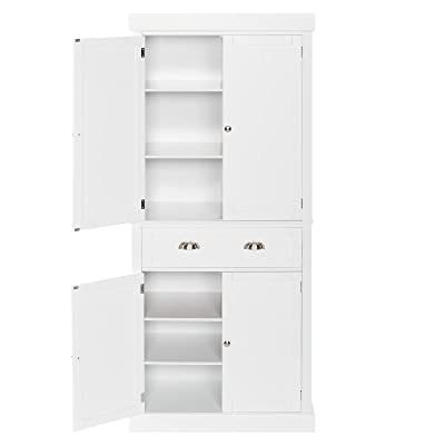Buy 72 Kitchen Pantry Cabinet With Doors And Shelves And Single Drawer Double Door Storage Cabinet White Online In Indonesia B094r3vg6g