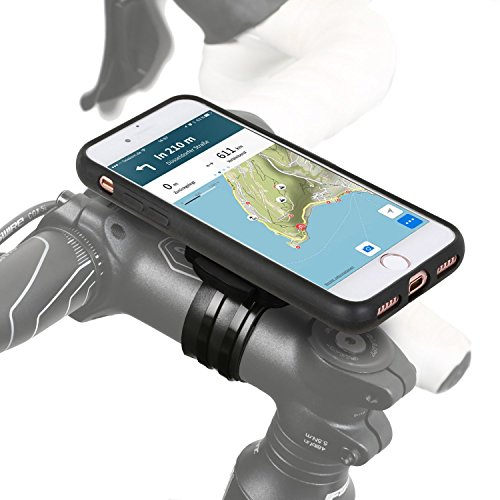 Wicked Chili QuickMOUNT 3.0 Bike Mount for Apple iPhone 8/iPhone 7 (4.7 inch) Bicycle Mount for Stem and Handlebar, bike mount iPhone8 iPhone7 with Case and Slip-On Splash Proof Cover