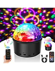 Disco Ball Light SOLMORE 9W LED Disco Lights 9 Colors Party Stage Lights Wireless Connection with Speaker Timer for Christmas Kids Bedroom Night Lights Birthday Karaoke Festival Show USB with Remote