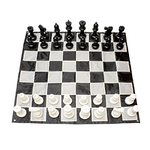 Get Out! Giant Chess Set Outdoor Games for Family Lawn Games - Large Chess Pieces & 5x5ft Giant Chess Board