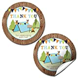Best AW Camping Tents - Camping Boy Birthday Party Thank You Sticker Labels Review