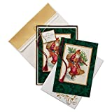 Hallmark-Box-Of-8-Heritage-Santa-Boxed-Christmas-Cards