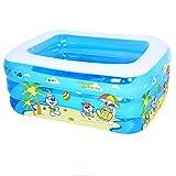 Blue Kid Inflatable Folding Bathtub, Portable Foldable Thicker Basin Seat Baths Tub Bath Home SPA Baby Playing Pool