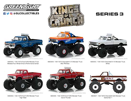 GreenLight 1: 64 Kings of Crunch Series 3-6 Assorted Monster Trucks