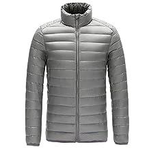 Men's Winter Stand Collar Ultra Light Packable Down Jacket Outwear