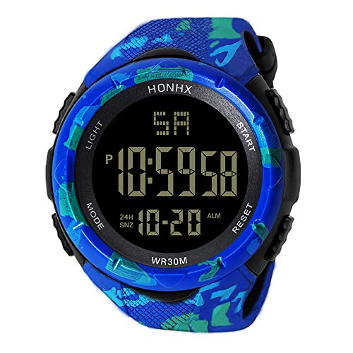 Men's Watches,Fxbar Fashion Sport Analog Dive Watch Cool Automatic Watch LED Screen Back Light Smartwatch (B)