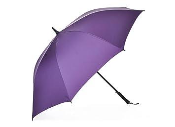 Paraguas con mango largo Paraguas de los hombres paraguas doble grande a prueba de viento recto