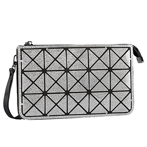 ZLL Women's bag Bolso Bandolera Para Mujer Billetera Bolso Largo Con Cremallera Bolso Para Teléfono Móvil Bolso Lingge Grey