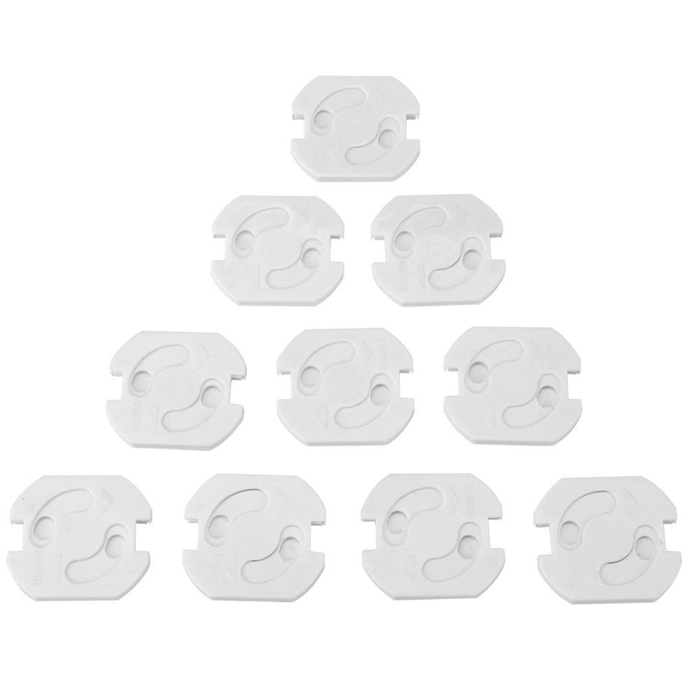 10 Pcs Enchufe Tapas Eléctrico Enchufe de EU Enchufe Girado Cubierta Anti Choque Eléctrico para Bebé Guardia de Seguridad Para Seguridad Fdit