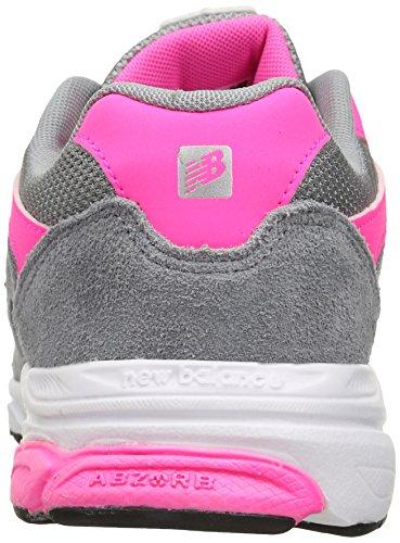 New Balance KJ888V1 Grade Running Shoe (Big Kid) Grey/Pink