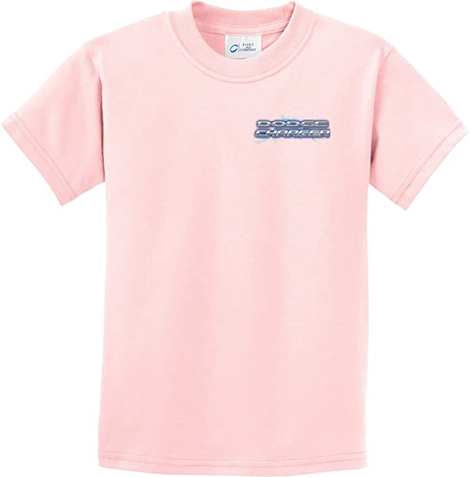 4e06f1d7 Amazon.com: Kids Blue Dodge Charger (Pocket Print) Youth T-Shirt ...