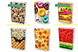 "Book Sox 6 Jumbo Sweet and Savory 2018 Stretchable Book Covers – Durable Hardcover Protectors For 9""x11"" Jumbo Textbooks – Washable Non-Adhesive Nylon Fabric School Book Jackets"