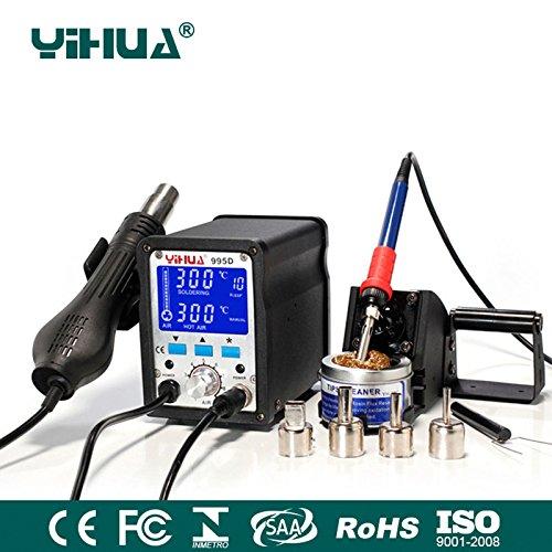YIHUA 995D 2 In 1 Hot Air Gun 110v Rework Solder Soldering Station Heat Gun air soldering station