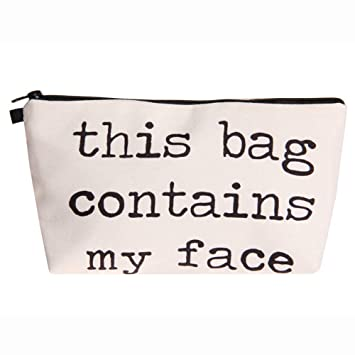 Amazon.com   LiPing Women Letters Printing Handy Bag Travel Cosmetic Clutch Bag  Makeup Case Pouch Toiletry Wash Organizer for Travel Toiletry Beauty Bag  for ... db1441d596