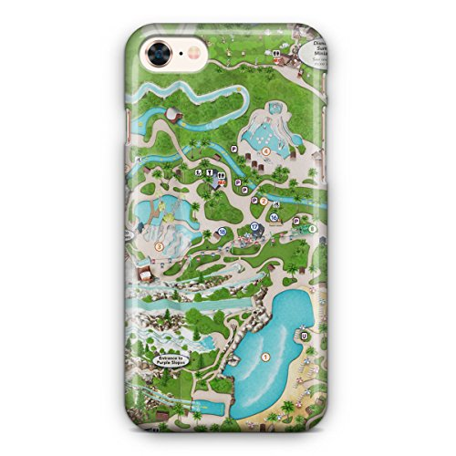 Queen of Cases Hard Shell Phone Case - Blizzard Beach - Map Disney Beach Blizzard