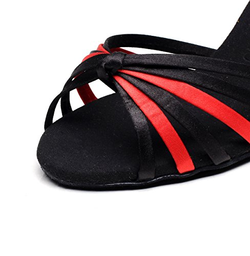 Heels Salsa Jazz Modern Sandals Women's Black 5cm Samba Shoes Tango Dance EU39 heeled7 Shoes UK6 Our40 Latin Chacha JSHOE Ballroom High 6qwPYx