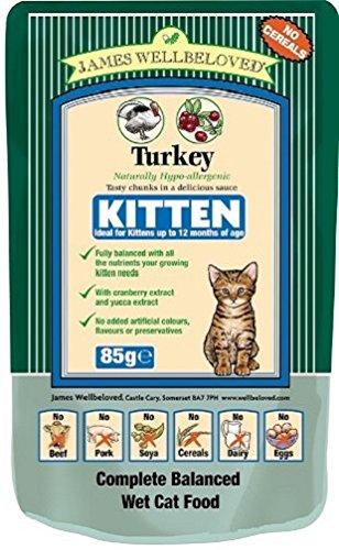 James Wellbeloved Kitten Turkey Pouch 12 x 85 g Crown Pet Foods
