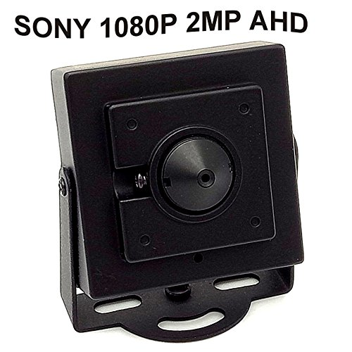 CNDST CCTV Sony 1080P HD AHD Mini Spy Pinhole Security Camera 2000Tvl 2MP 3.6mm 90 Degree, Mini Hidden Surveillance Camera Pinhole Security Camera