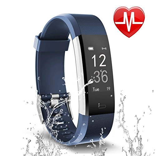Letsfit Fitness Tracker, Activity Tracker with Heart Rate Monitor and Sleep Monitor, Step Counter Pedometer Watch, IP67 Water Resistant Smart Bracelet for Kids Women and Men by Letsfit
