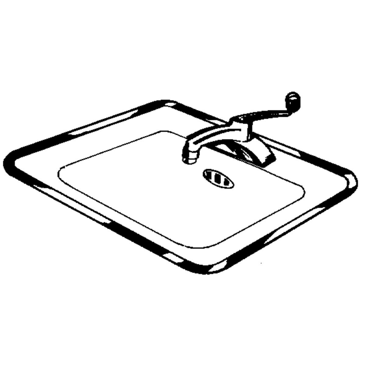 Vance Stainless Steel Sink Frame (Hudee Rim) for 21 X 32 inch rectangular sink, 1S42132S