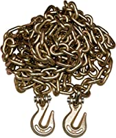"""6 Pack 3/8"""" 20' G70 Tow Chain Tie Down Binder Flat With Grade 70 Hooks"""