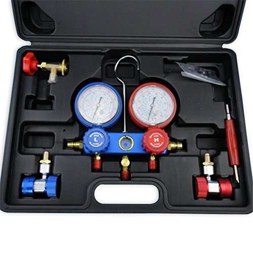 - YX MARINE AC Refrigeration Kit A/C Diagnostic Manifold Gauge Set Air for R12 R22 R134a 410a R404z