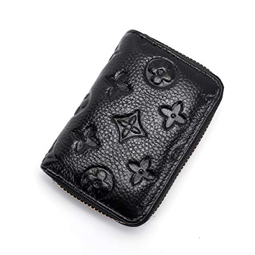 Auner Womens Wallet RFID Blocking Genuine Leather Multi Credit Card Holder Zipper Small Wallets - Black by Auner (Image #7)