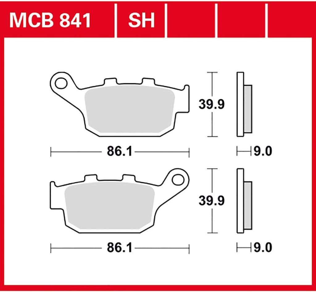 Bremsbelag TRW organischer Allround-Bremsbelag CBR 650 F ABS RC74 14-16 hinten