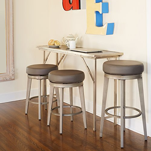 Angelo: HOME 80924GRY PR Linden Swivel Stool Set of 2, 24-inch by angelo:HOME (Image #2)