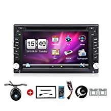 Bosion 6.2-inch Double DIN Car Stereo in dash Gps Navigation for Universal Car Free Backup Camera