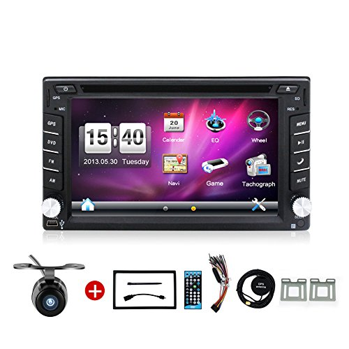 hot selling product 6 2 inch double din in dash car dvd player import it all. Black Bedroom Furniture Sets. Home Design Ideas