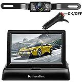 DohonesBest Backup Camera Kit,4.3 Color HD LCD Foldable Rear View Monitor for Car/SUV/MPV/Van IP68 Waterproof Night Vision License Plate Reverse Back Up Camera