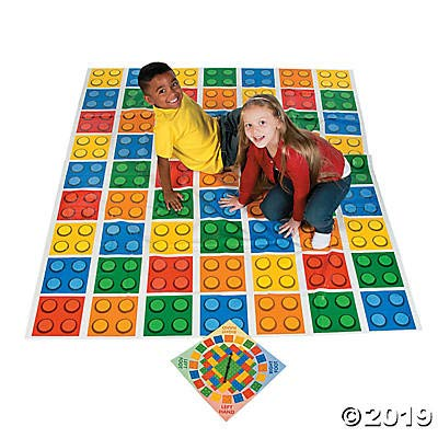 Color Blocks Bend Game with Spinner  5 ft x 6 ft pad Brick Party Game