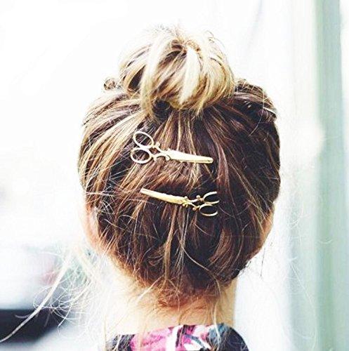 metal scissors hairpin hair clips