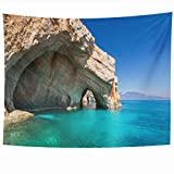 inspiring small kitchen island design Armko Tapestry Wall Hanging Art 80 x 60 Inches Bay Blue Beach Sea On Zakynthos Island Greece Nature Parks Amazing Greek Inspiring Destination Design Home Tapestries Office Bedroom Living Room Dorm