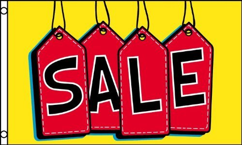 SALE Tags FLAG, 3'x5' sign banner
