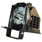 WOWSAI TV Replacement Lamp in Housing for Mitsubishi WD-60638, WD-60738, WD-60C10, WD-65638, WD-65738, WD-65838, WD-65C10 Televisions