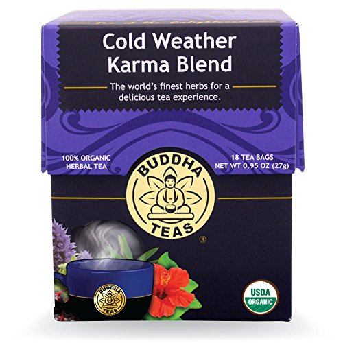 Buddha Teas Cold Weather Karma Blend, 18 Count (Pack of 6)