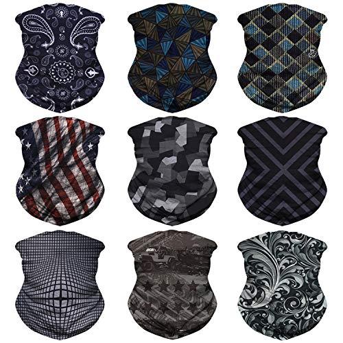 3c084028f3fd1 JOEYOUNG Headwear, Bandana, Neck Gaiter, Head Wrap, Headband for Men and  Women, Multifunctional Head Scarf, Face Mask, Balaclava, Magic Scarf, ...