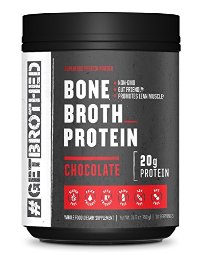 Original Bone Broth Protein Powder (30 Full Servings) | Chocolate | Paleo, Keto & Low Carb Friendly Supplement for Gut & Joint Support | Non GMO, Gluten Free, Soy Free & Dairy Free